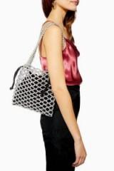 Topshop Cindy Net Tote Bag in Silver | metallic bags
