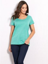 Crochet Back T-Shirt In Bright Green | M&Co