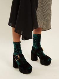 DARNER SOCKS Crushed-velvet ankle socks | Matches Fashion