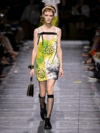 Matches Fashion PRADA Crystal-embellished tie-dye mini dress by Miuccia Prada