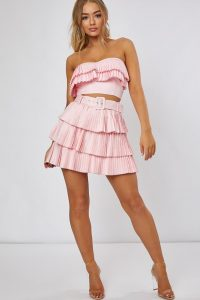 DANI DYER PINK PLEATED FRILL MINI SKIRT – rara skirts
