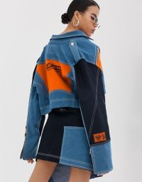 DB Berdan panelled denim jacket in blue