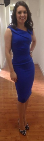 Really like this blue Hybrid dress from Dorothy Perkins that Laura Tobin has on
