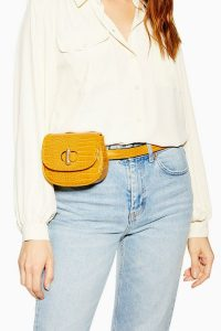 Topshop Delilah Belt Bag in Yellow | stylish fanny pack