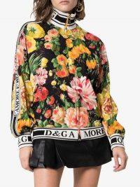 Dolce & Gabbana Floral Print Zipped Sweater / multicoloured designer jacket