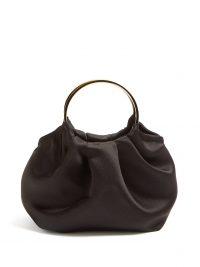 THE ROW Double Circle mini silk-satin bag in black