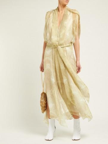 PETAR PETROV Dove snake-print silk dress ~ reptile prints