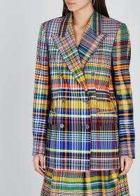 DRIES VAN NOTEN Bovan checked woven blazer / multicoloured checks