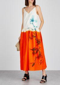 DRIES VAN NOTEN Dita printed cotton-blend dress ~ painterly prints ~ summer fashion