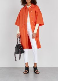 DRIES VAN NOTEN Rand orange cotton jacket ~ spring brights