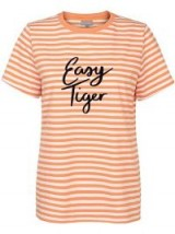Oliver Bonas Easy Tiger Orange Stripe T-Shirt / logo t-shirts
