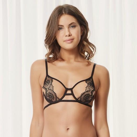 BLUEBELLA ELIANA BRA BLACK – lace bras – lingerie