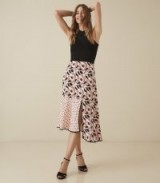 Floaty asymmetric hemline skirts ~ REISS ELINE PRINTED MIDI SKIRT