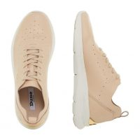 DUNE LONDON Elis Nude Embossed Wedge Sole Trainer | wedged sneakers