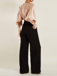 ROKSANDA Ellia gathered satin and crepe jumpsuit | Matches Fashion