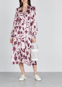 EQUIPMENT Andrese floral-print silk wrap dress ~ feminine fashion