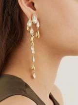 RYAN STORER Falling Tear crystal-embellished earrings ~ feminine statement drops