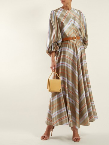 ROKSANDA Fife striped-satin maxi dress | luxe dresses | modern prairie look
