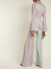 HALPERN Flared sequin jumpsuit | Matches Fashion