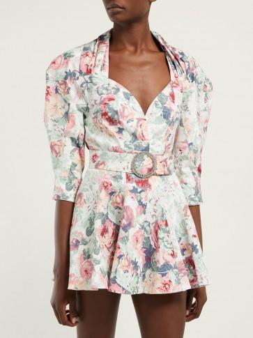 ATTICO Floral cotton-twill mini dress ~ structured designs