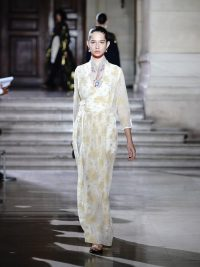RUNWAY MAME KUROGOUCHI Floral fil-coupé chiffon wrap dress | Matches Fashion