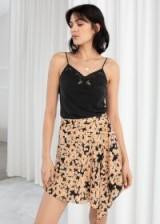 STORIES Floral Handkerchief Mini Skirt | asymmetric hemline skirts