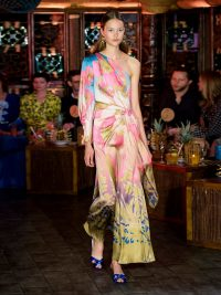 RUNWAY PETER PILOTTO Floral-print one-shoulder silk-blend midi dress | Matches Fashion