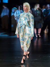 RUNWAY LEMAIRE Floral-print silk-blend cloqué shirtdress | Matches Fashion