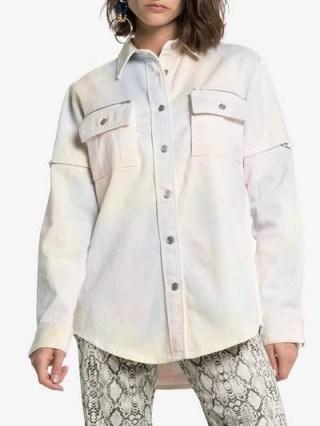 Ganni Hopewell Multicoloured Tie Dye Denim Shirt - flipped