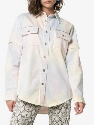 Ganni Hopewell Multicoloured Tie Dye Denim Shirt
