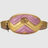 GUCCI GG Marmont matelassé leather belt bag | luxe metallic fanny pack