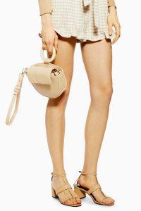 Topshop Gigi Round Handle Grab Bag in Camel