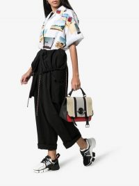 Givenchy Black And White Jaw Neoprene And Leather Sneakers | chunky monochrome trainers | designer sports luxe