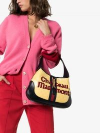 Gucci Yellow, Black And Red Jackie Hobo Chateau Marmont Leather Bag