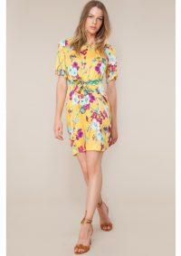 The Dressing Room HALE BOB ASSUMPTA BELTED DRESS – GOLD YELLOW