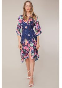 The Dressing Room HALE BOB CHERMONA TIE FRONT DRESS – NAVY