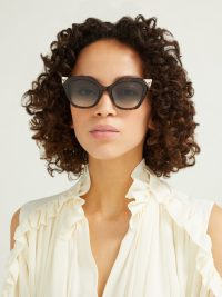 Matches Fashion FENDI Havana tortoiseshell-acetate cat eye sunglasses