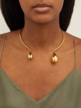 RYAN STORER Hidden Tears gold and crystal choker necklace ~ contemporary statement chokers