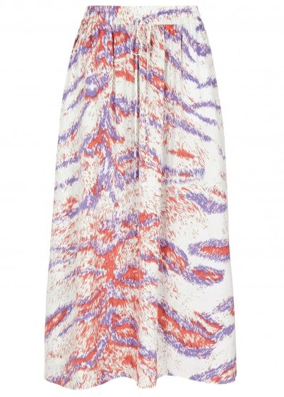 HOFMANN Belle printed skirt / lilac and coral animal prints - flipped