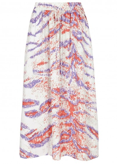HOFMANN Belle printed skirt / lilac and coral animal prints