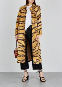 HOFMANN Christelle tiger-print cotton jacket ~ wild animal prints