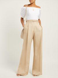 GABRIELA HEARST Hurley off-the-shoulder cotton-poplin corset top | Matches Fashion
