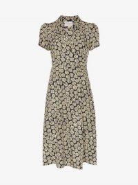 HVN Morgan Daisy Print Silk Dress / vintage inspired fashion / Harley Viera Newton clothing