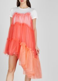 IN.NO Raven ruffled tulle T-shirt dress | dreamy asymmetric dresses