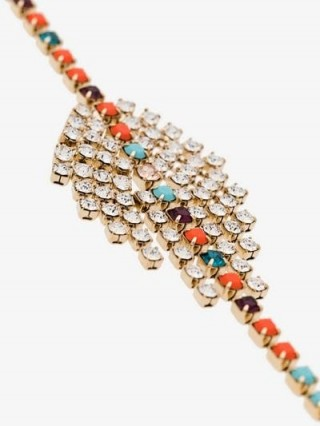 Isabel Marant Multicoloured Multi-Gem Crystal Embellished Bracelet / coloured crystals
