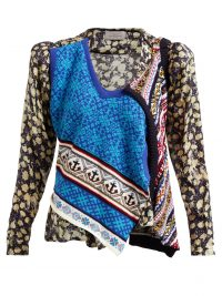 PREEN BY THORNTON BREGAZZI Isadora cotton knit and silk-blend top | knitted panel tops