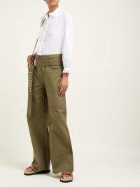 LA FETICHE Jane lace collar cotton-twill blouse | Matches Fashion