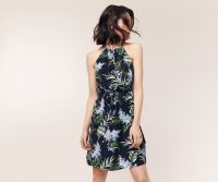 OASIS JASMINE HOLIDAY SUNDRESS Multi Blue / sleeveless tie waist dresses