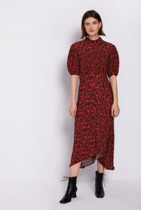 GHOST JENNA DRESS Red & Black Nia Floral | modern prairie dresses