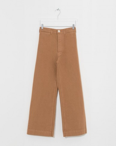 JESSE KAMM cork sailor pants in brown ~ cropped leg trousers
